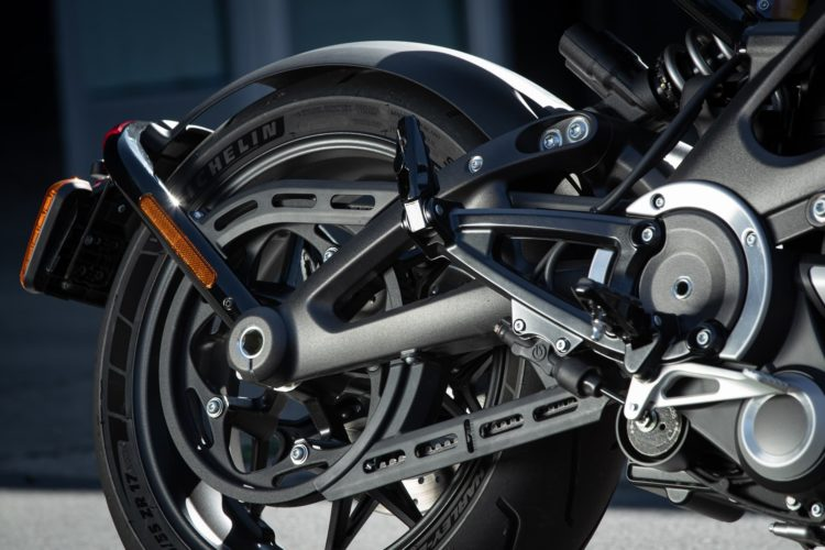 40. Geburtstag des Harley-Davidson Zahnriemen am Heck