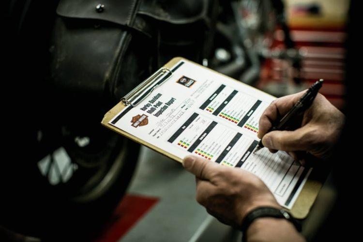 Inspektion und Wartung Harley-Davidson